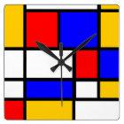 Clock Mondrian style