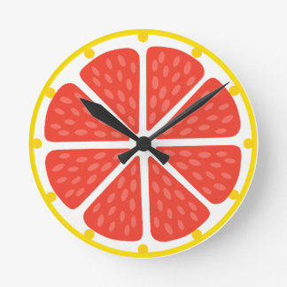 Clock of grapefruit