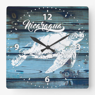 Clock of Nicaragua wall, Turtle