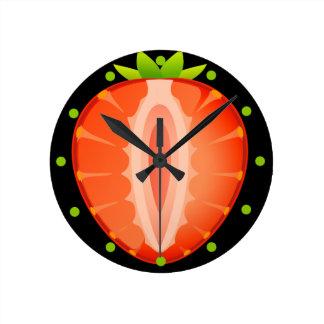 Clock of strawberry