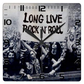 "Clock of wall ""Long Live Rock N Roll """