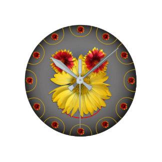 Clock photos daisies a design of a smiling face