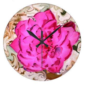 Clock pink bloom