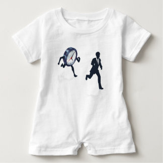 Clock Race Business Man Concept Baby Romper