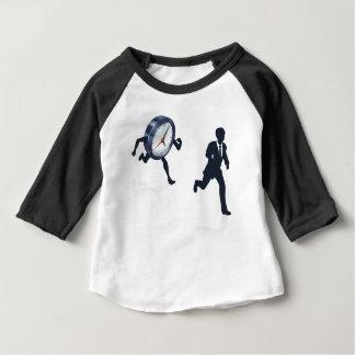 Clock Race Business Man Concept Baby T-Shirt