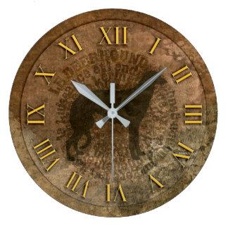 Clock scottish deerhound