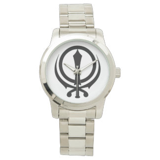 "Clock silver-plated bracelet ""Adi Shakti "" Watch"