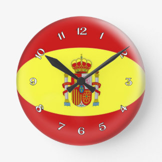 Clock Spanish Spain flag Bubble Design