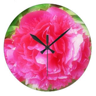 "Clock ""splendour-fully"" bloom dark-pink"