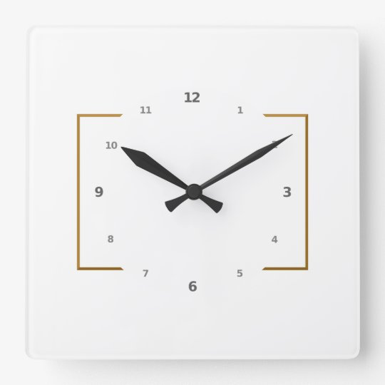 Clock - Square with Your Art as Background