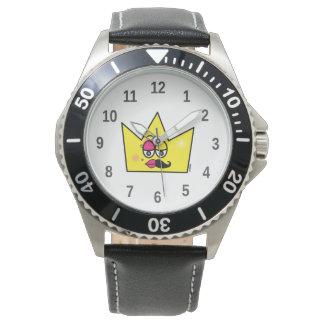 Clock Stainless Steel Black Leather - Transgênero Wrist Watch