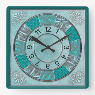 CLOCK - TEAL -DESIGN -