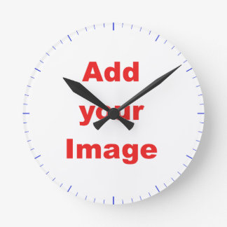 Clock template - Blue markers - Add your Image