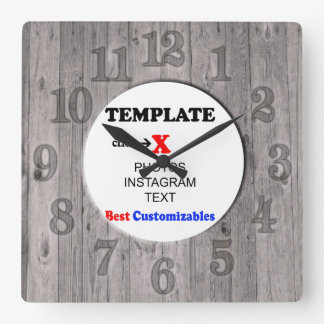 Clock Template | Wood Fence