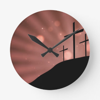 Clock - The Cross With Red Starburst