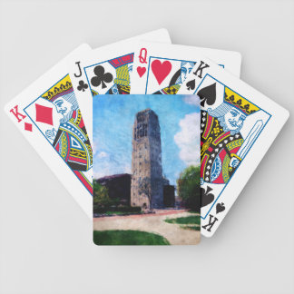 Clock Tower Bicycle Playing Cards