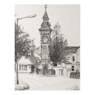 Clock Tower Hay on Wye 2007 Postcard