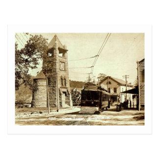 Clock Tower, Roslyn, Long Island, NY Vintage Postcard