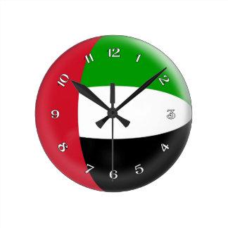 Clock UAE United Arab Emirates flag Bubble Design