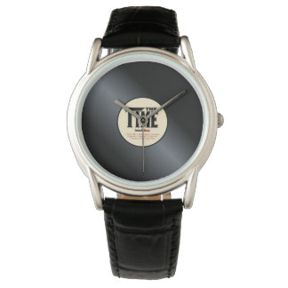 "Clock Vinyl ""The Times "" Watch"
