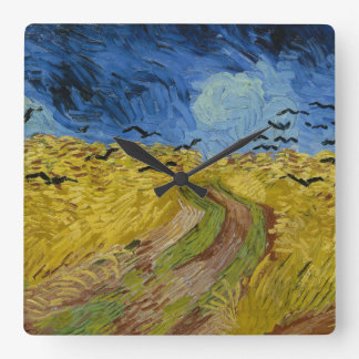 Clock wheatfield fine art gogh