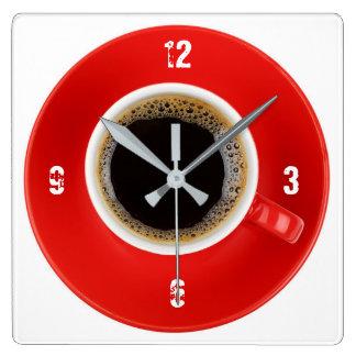 Clock with Americano coffee