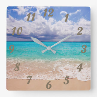 Clock with Beach Scene - Very Relaxing