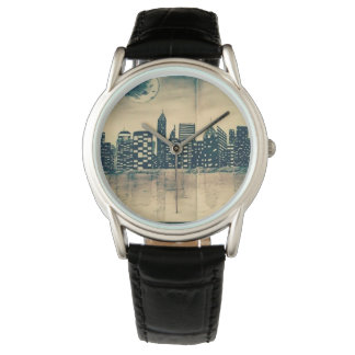 clock with city fund watch