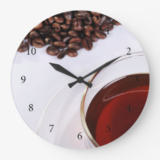Clock with coffee beans motive 2
