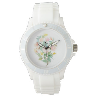 Clock with floral adornment for women watch