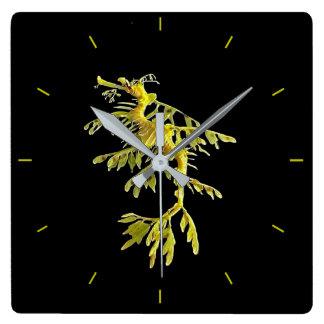 Clock with Leafy Sea Dragon Seahorse