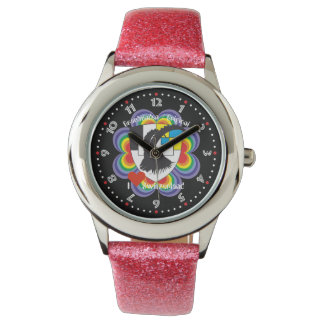 Clock with Swiss draft Graubünden Grischun Watches