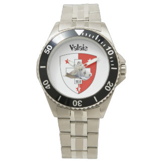 Clock with Swiss draft Valais/Valais Watch