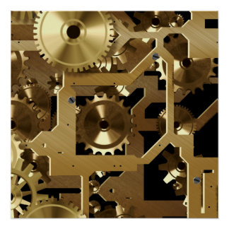 clock work brass poster