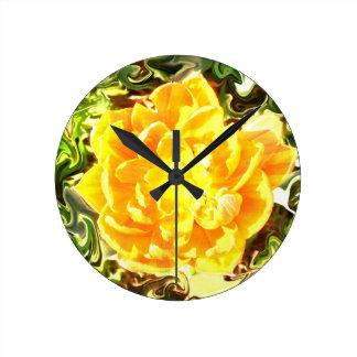 Clock yellow bloom