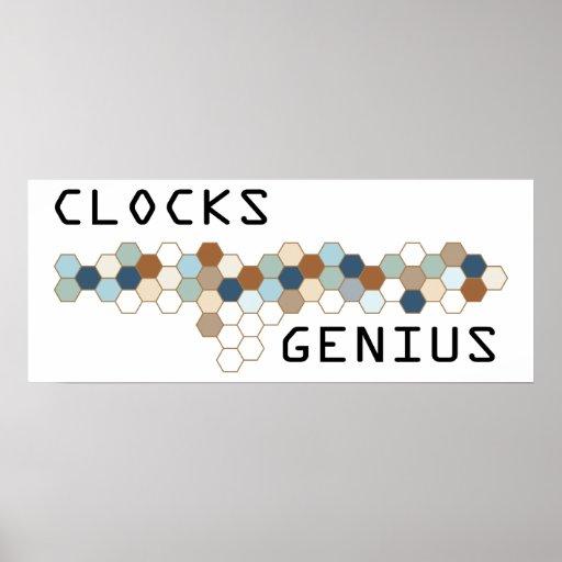 Clocks Genius Posters