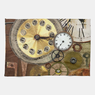 Clocks Rusty Old Steampunk Art Towels