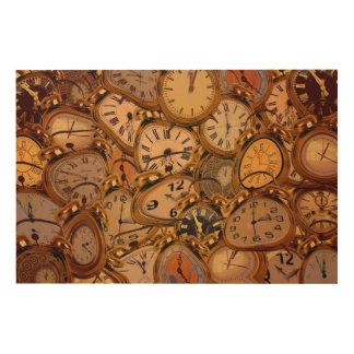 Clocks Wood Wall Decor