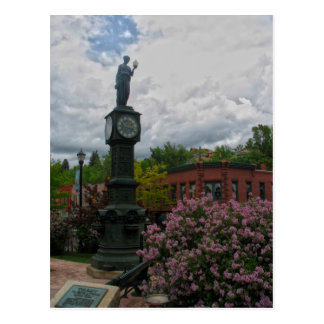 Clocktower Lady - Manitou Springs, Colorado Postcard