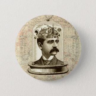 Clockwork Brain STEAMPUNK vintage 2 Inch Round Button