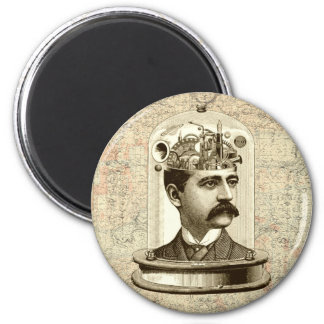 Clockwork Brain STEAMPUNK vintage Magnet