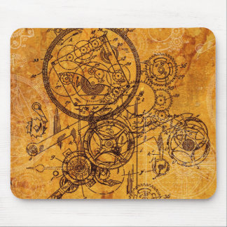 Clockwork Collage Mouse Pad