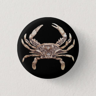 Clockwork Crab Button Pin