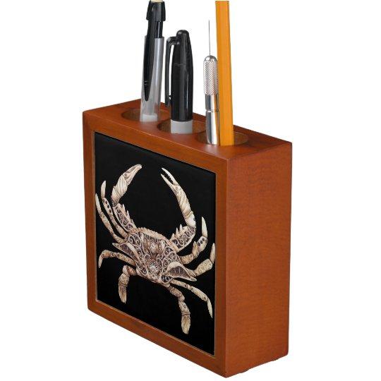 Clockwork Crab Desk Organizer