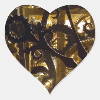 Clockwork Masterpiece Heart Sticker