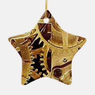 clockwork MECHANISM CLOCK Ceramic Star Ornament