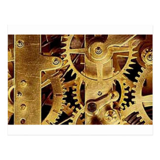 clockwork MECHANISM CLOCK Postcard