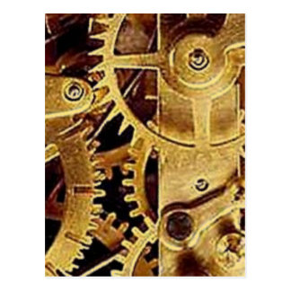 clockwork MECHANISM CLOCK Postcard