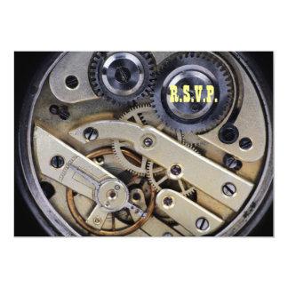 Clockwork mechanism design card