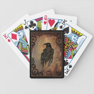 Clockwork Raven Bicycle Playing Cards